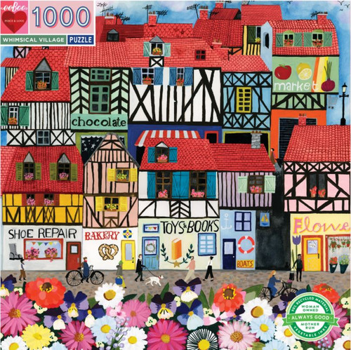"""Whimsical Village"" 1000 Piece Jigsaw Puzzle 