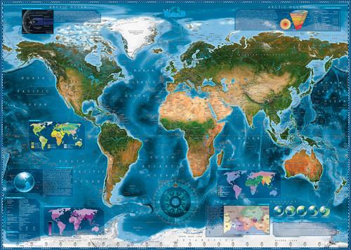 """Satellite Map"" 2000 Piece Jigsaw Puzzle | Heye"