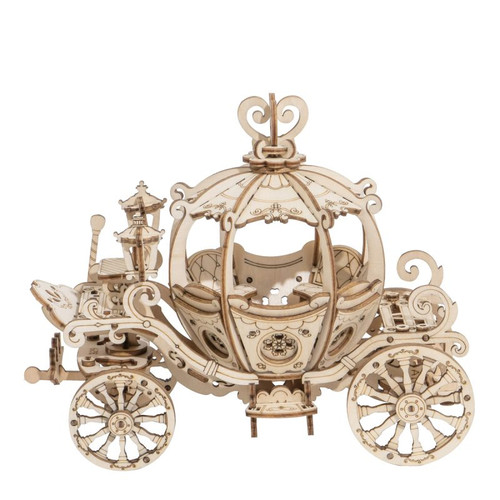 """Pumpkin Princess Carriage"" Wooden Model Kit 