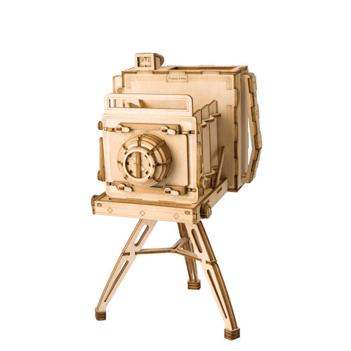 Vintage Camera Wooden Model Kit | Rolife