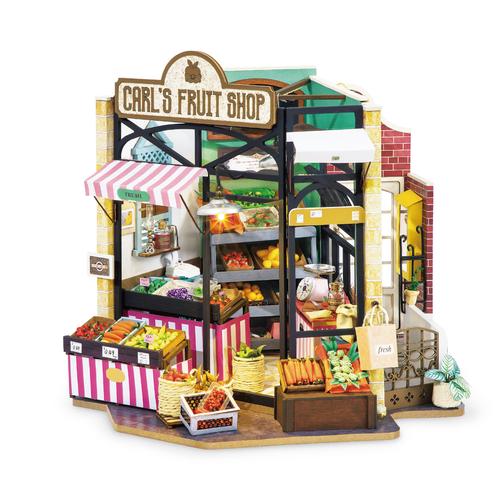 Carl's Fruit Shop *Build-Your-Own* Dollhouse Kit | Rolife