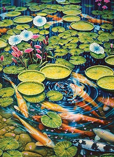 """Koi Pond"" 1000 Piece Jigsaw Puzzle | Cobble Hill"