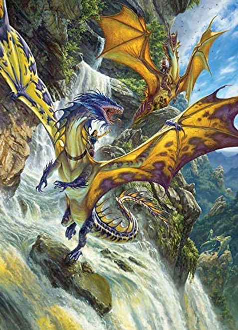"""""""Waterfall Dragons"""" 1000 Piece Jigsaw Puzzle   Cobble Hill"""