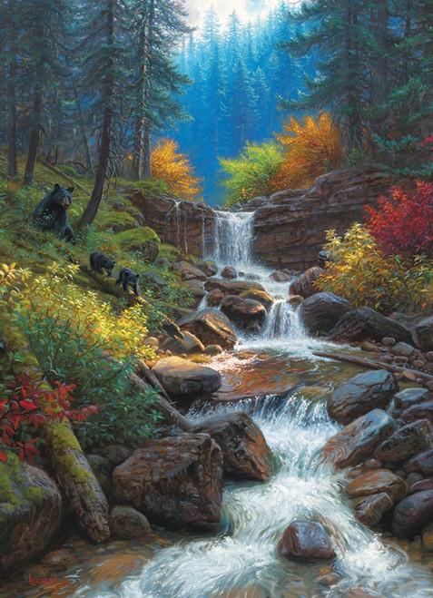 """Mountain Cascade"" 1000 Piece Jigsaw Puzzle | Cobble Hill"