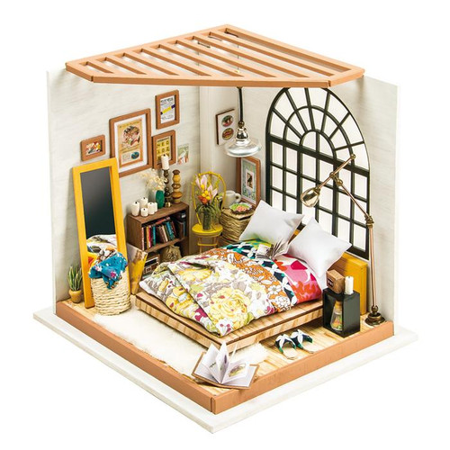 Alice's Dreamy Bedroom *Build-Your-Own* Dollhouse Kit | Rolife