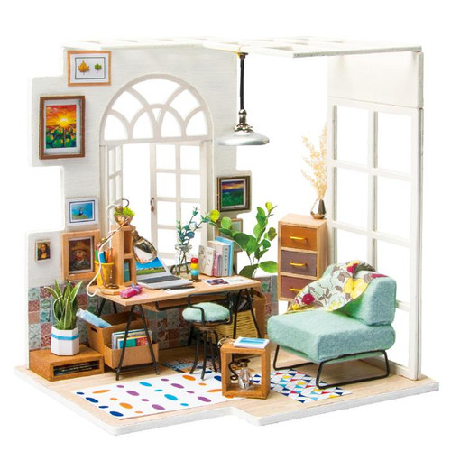 """SoHo Time"" Home Office Studio *Build-Your-Own* Dollhouse Kit 