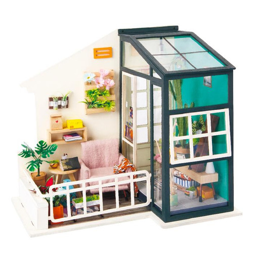 """Balcony Daydreaming"" *Build-Your-Own* Dollhouse Kit 