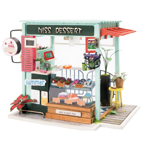 """Miss Dessert"" Dessert Shop *Build-Your-Own* Dollhouse Kit 