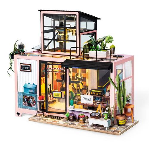 """Kevin's Studio"" Music Studio Duplex Apartment *Build-Your-Own* Dollhouse Kit | Rolife"