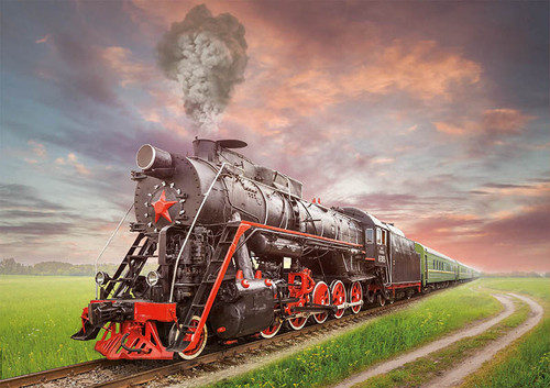 """Steam Locomotive"" 2000 Piece Jigsaw Puzzle | Educa"