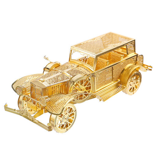 """Classic Vintage Car"" Gold Metal Model Kit 