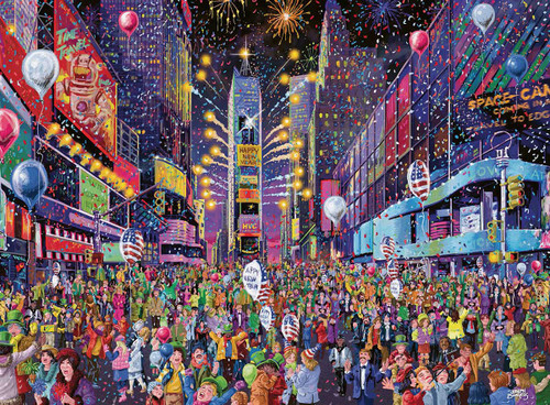 """New Years in Time Square"" 500 Piece Jigsaw Puzzle 