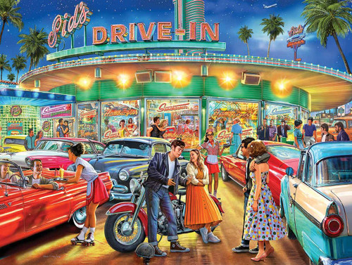 """""""American Drive-In"""" 1000 Piece Jigsaw Puzzle 