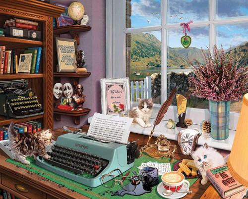 """Writer's Desk"" 1000 Piece Jigsaw Puzzle | White Mountain"
