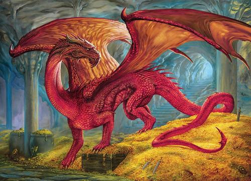 """Red Dragon's Treasure"" 1000 Piece Jigsaw Puzzle   Cobble Hill"