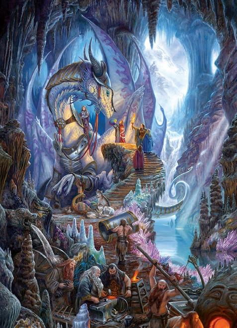 """Dragonforge"" 1000 Piece Jigsaw Puzzle   Cobble Hill"