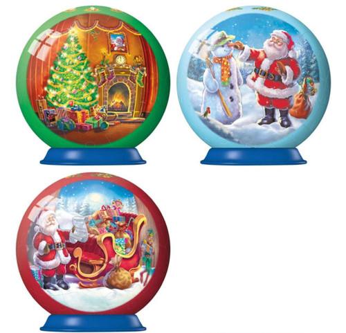 """Christmas Balls"" Set of Three *3D Jigsaw Puzzle* Puzzleball Ornaments | Ravensburger"