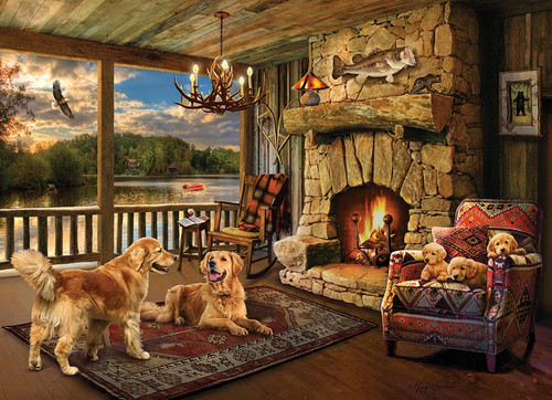 """Lakeside Cabin"" 1000 Piece Jigsaw Puzzle 