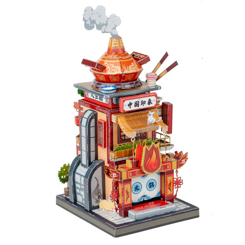"""Hot Pot Shop"" Metal Model Kit 