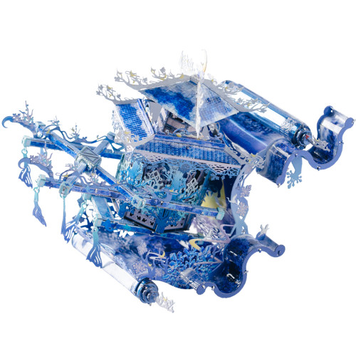 Fairy Flower Sedan Blue & Silver Metal Model Kit | MU Models