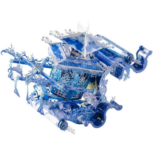 Fairy Flower Sedan Blue & Silver Metal Model Kit | MU Models