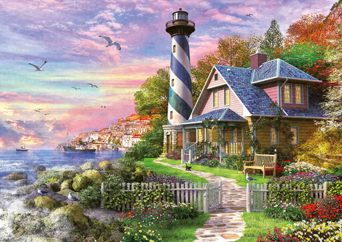 """Lighthouse in Rock Bay"" 1000 Piece Jigsaw Puzzle 