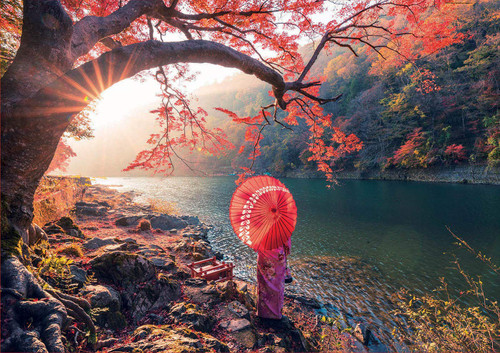 """Sunrise in Katsura River, Japan"" 1000 Piece Jigsaw Puzzle 