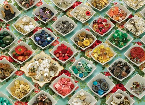 """Grandma's Buttons"" 1000 Piece Jigsaw Puzzle   Cobble Hill"
