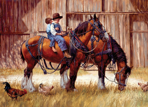 """""""Back to the Barn"""" 1000 Piece Jigsaw Puzzle 