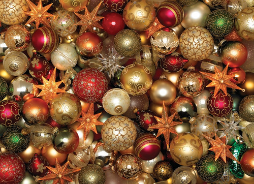 """Christmas Balls"" 500 Piece Jigsaw Puzzle | Cobble Hill"