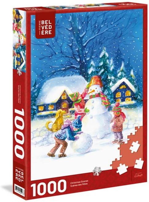 """Pleasant Snowman"" 1000 Piece Jigsaw Puzzle   Trefl"