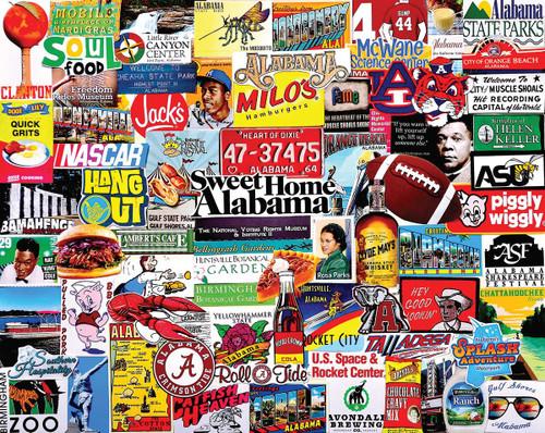 """I Love Alabama"" 1000 Piece Jigsaw Puzzle | White Mountain"