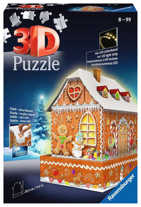 """Gingerbread House"" 216 Piece *3D Jigsaw Puzzle* 