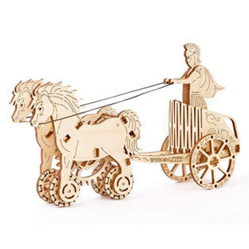 """Roman Chariot"" Mechanical Wooden Model Kit 