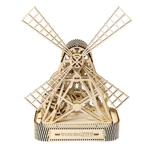 """Farm Mill"" Mechanical Wooden Model Kit | Wooden City"