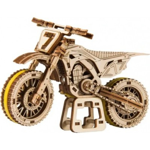 """Motocross"" Mechanical Wooden Model Kit 