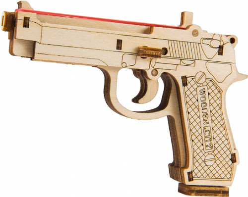 """The Legend BRT-9"" Small Mechanical Wooden Model Rubber Band Gun Kit 