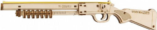 """Judgment Day RMT-870"" Small Mechanical Wooden Model Rubber Band Shotgun Kit 