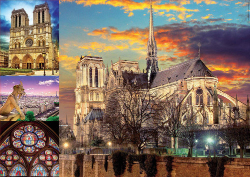 """Notre Dame Collage"" 1000 Piece Jigsaw Puzzle 