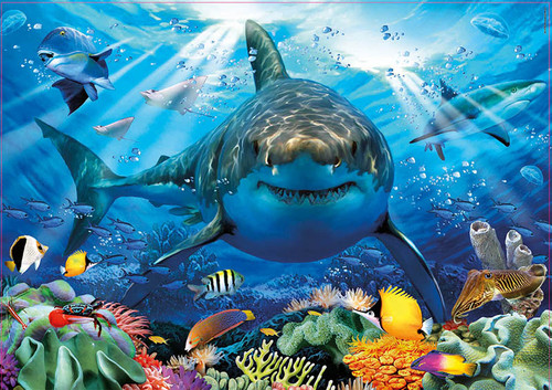 """Great White Shark 500 Piece Jigsaw Puzzle 
