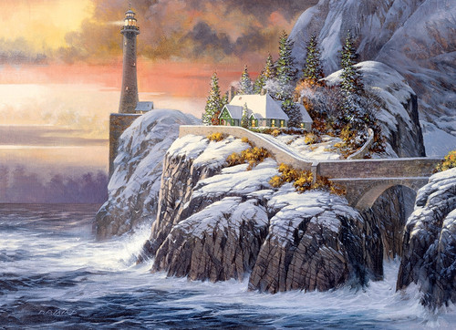 """""""Winter Lighthouse"""" 1000 Piece Jigsaw Puzzle 