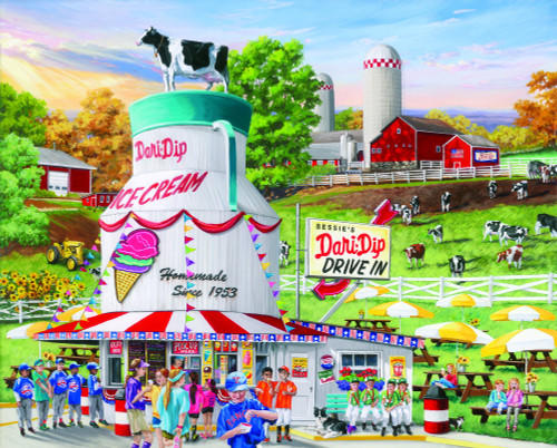 """Dairy Bar"" 1000 Piece Jigsaw Puzzle 