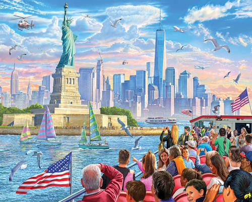 """Statue of Liberty"" 1000 Piece Jigsaw Puzzle 