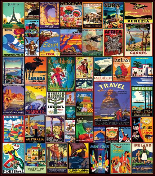 """Travel The World"" 550 Piece Jigsaw Puzzle | White Mountain"