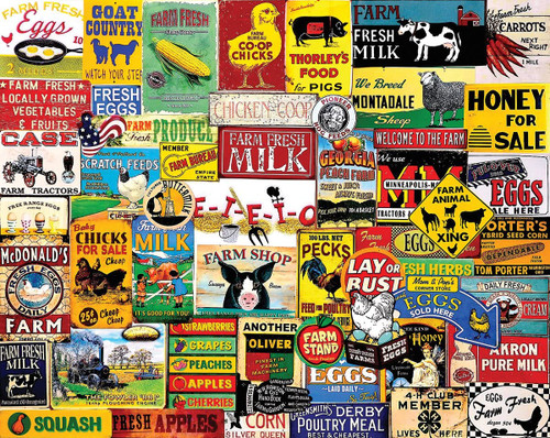 """""""Down on The Farm"""" 1000 Piece Jigsaw Puzzle   White Mountain"""