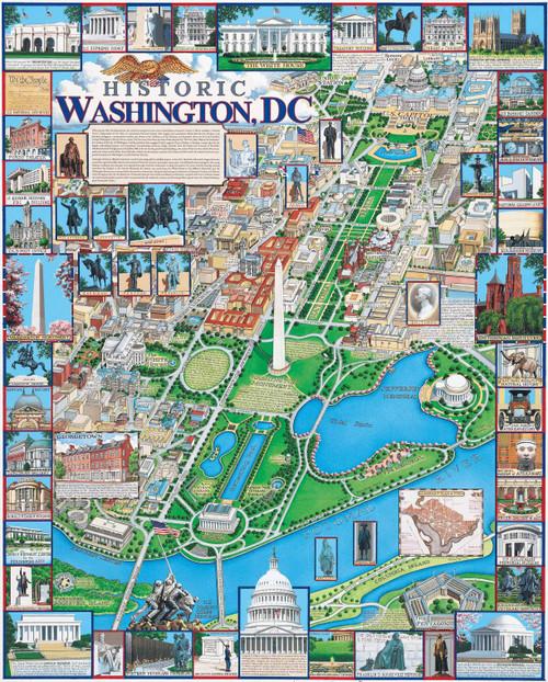 """""""Washington, DC"""" 1000 Piece Jigsaw Puzzle   White Mountain"""