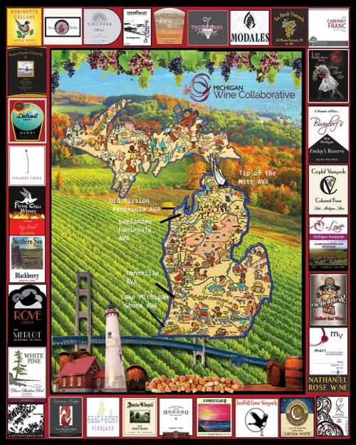 """Michigan Wine"" 1000 Piece Jigsaw Puzzle 