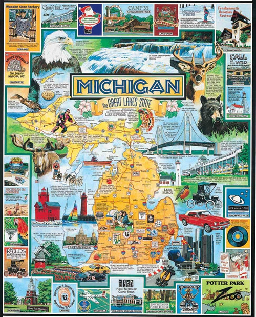 """Best of Michigan"" 1000 Piece Jigsaw Puzzle 