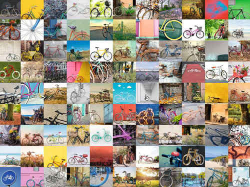 """99 Bicycles"" 1500 Piece Jigsaw Puzzle 