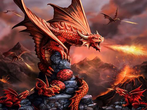 """Fire Dragon"" 500 Piece *Lenticular 3D Effect* Jigsaw Puzzle | Prime3D"
